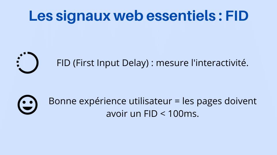 FID - Mesurer l'interactivité d'un site web - L'un des signaux web essentiels