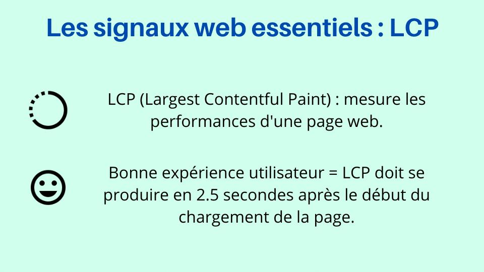 LCP - Mesurer les performances d'une page web - L'un des signaux web essentiels